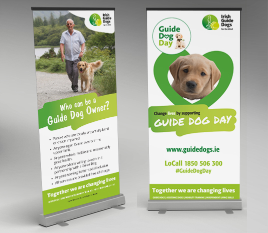 Irish Guide Dogs Pull Up Banners